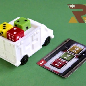 Ambulancias en 3D para juego de mesa Dice Hospital