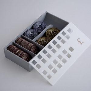 Caja de monedas realizada en 3D para Juego de Mesa Brass
