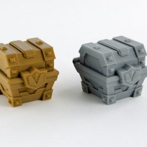 Cofres realizados en 3D para Juegos de Mesa