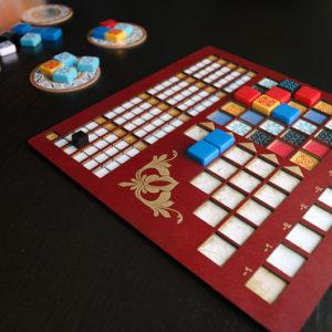 Tablero de jugador para el Juego de Mesa Azul