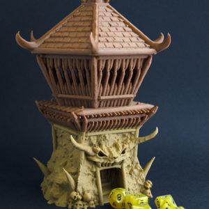 Torre del Bárbaro realizada en 3D