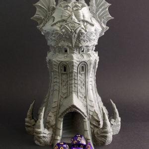 Torre del Brujo realizada en 3D