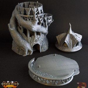 Torre de Dados del Druida realizada en 3D