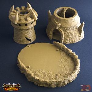 Torre del Guerrero realizada en 3D