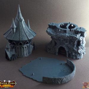 Torre del Hechicero realizada en 3D