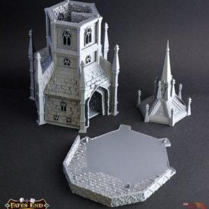 Torre del Paladín realizada en 3D